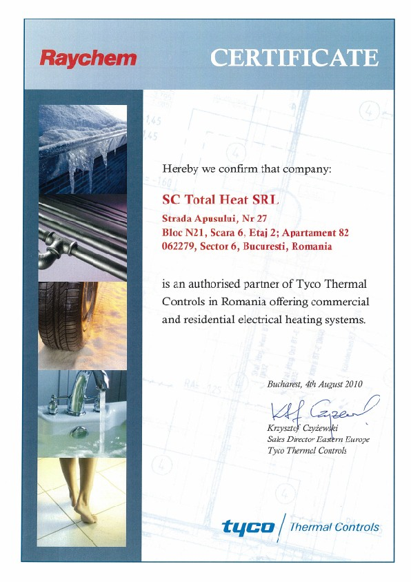 certificat raychem